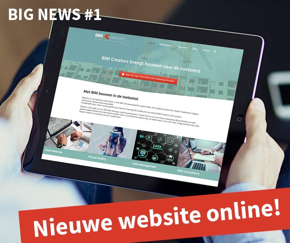 Nieuwe website BIM Creators